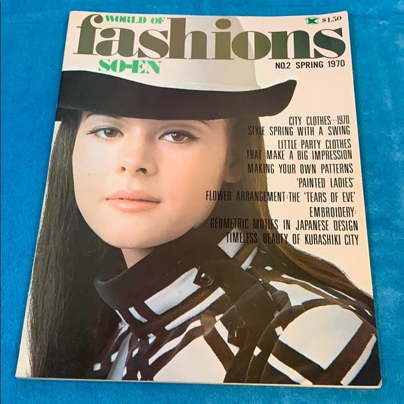 1970 World of FASHION SO-EN Japanese Magazine